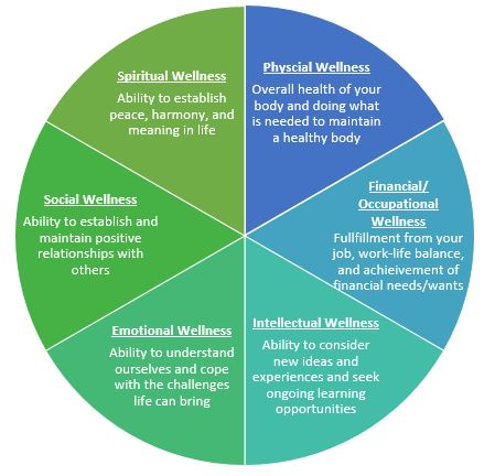 New texbook, Health and Wellness for Life outlines the six dimensions of wellness